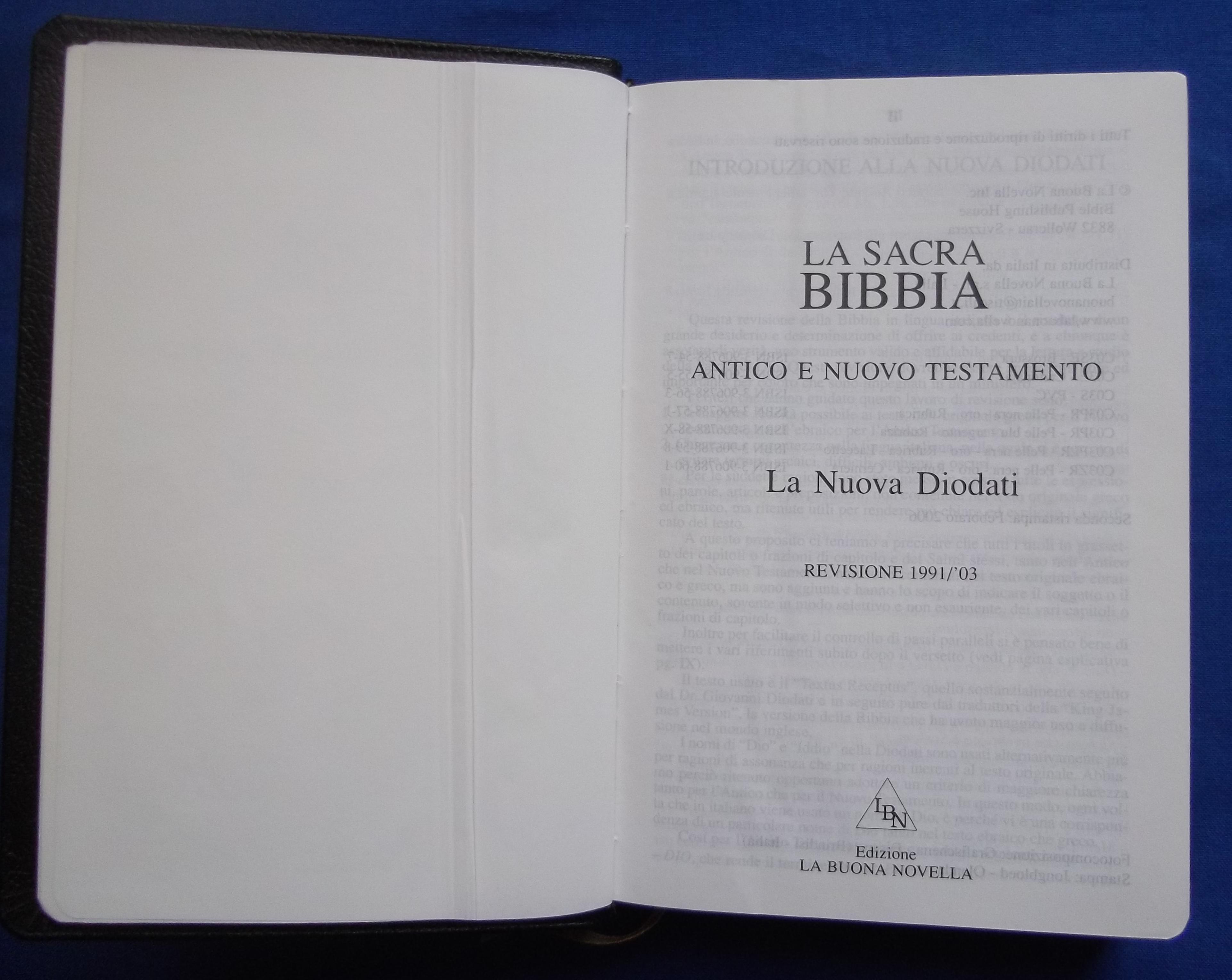 bibbia nuova diodati